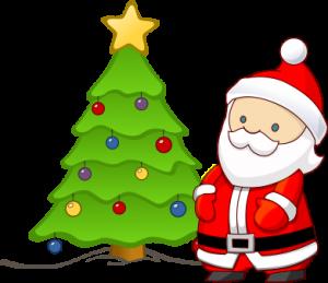 Julgran och tomte
